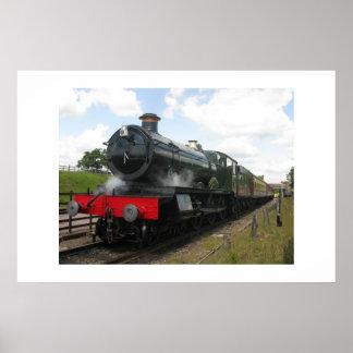 BahnMotor des Vintagen Dampfs, Zug Poster