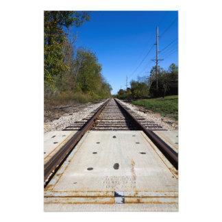 Bahnstrecken Photodruck