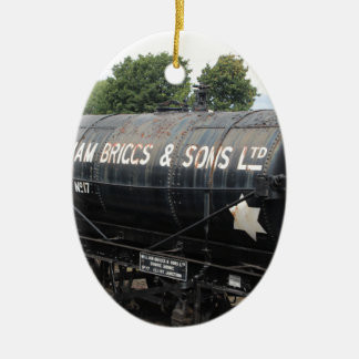 Bahnszene - Tanker - Vintag Keramik Ornament