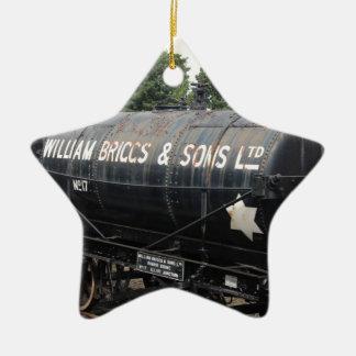 Bahnszene - Tanker - Vintag Keramik Stern-Ornament