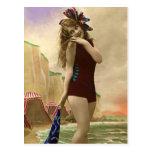 Baigner des beautés du passé cartes postales