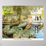 Bain de la Grenouillere de Les par Claude Monet Posters