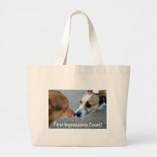 Baiser de chien - compte de premières impressions  sac en toile jumbo