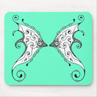 Baisers des ailes de fée de poissons tapis de souris