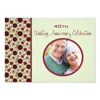 Baja - Foto-Hochzeits-Jahrestags-Einladung 12,7 X 17,8 Cm Einladungskarte