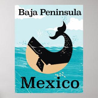 baja Halbinsel Mexiko-Reiseplakat Poster