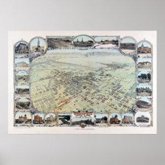 Bakersfield Kalifornien 1901 Vintages Plakat