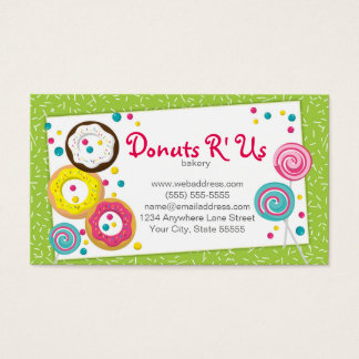 Bakery Pastry Chef Business Card Design Template Visitenkarte