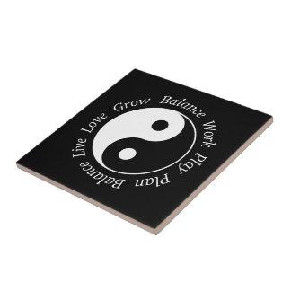 Balance Yin Yang Symbol Kleine Quadratische Fliese