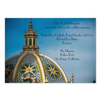 Balboa-Park-San Diego Mosaik-Hauben-Empfang 12,7 X 17,8 Cm Einladungskarte