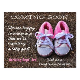 Bald kommen Schwangerschafts-Mitteilung der Karte