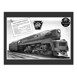 Baldwin-Pennsylvania Eisenbahn-T-1 Postkarte