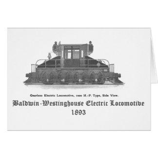 Baldwin Westinghouse elektrische Lokomotive 1893 Grußkarte