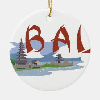 Bali Rundes Keramik Ornament