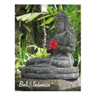 Bali-Statue-Postkarte Postkarten
