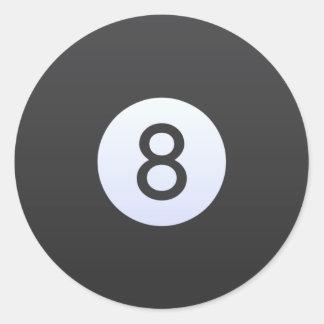 Ball 8 runder aufkleber