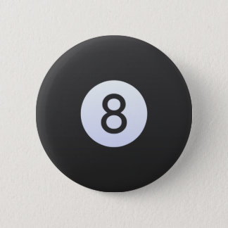 Ball 8 runder button 5,1 cm