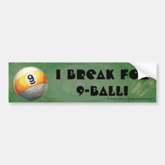 Ball 9 autoaufkleber