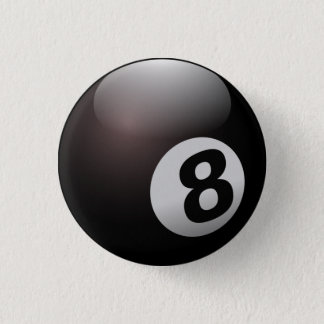 Ball acht runder button 3,2 cm