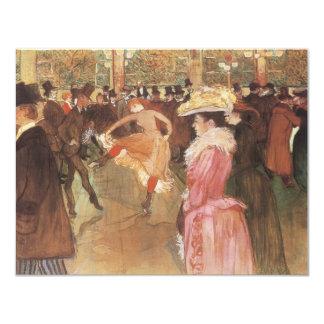 Ball beim Moulin Rouge durch Toulouse Lautrec Personalisierte Ankündigungskarten