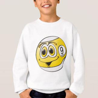 Ball-Cartoon des Pool-neun Sweatshirt