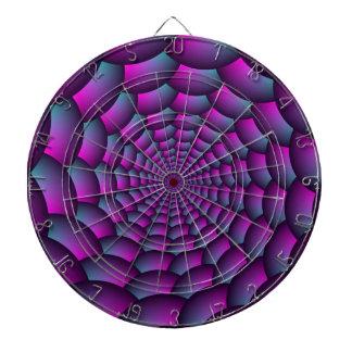 Ball-Spirale in rosa Blauem und lila Dartscheibe