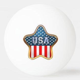Balle De Ping Pong Drapeau américain en forme d'étoile