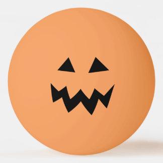 Balle De Ping Pong Le chef orange de citrouille de Halloween