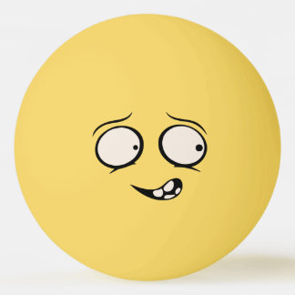 Balle Tennis De Table Boule de ping-pong drôle mentalement dérangée de