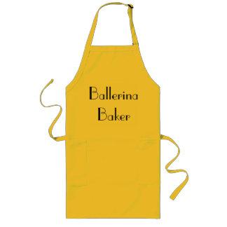 Ballerina-Bäcker-schrullige gelbe u. schwarze Lange Schürze