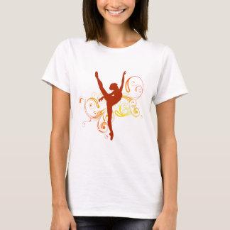 Ballerina-eleganter Wirbel T-Shirt