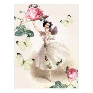 Ballerina-Fee Postkarten
