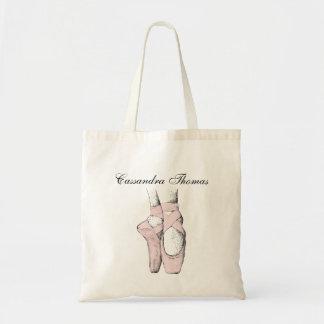 Ballerina-Füße auf Pointe #1 lt Pink Tragetasche