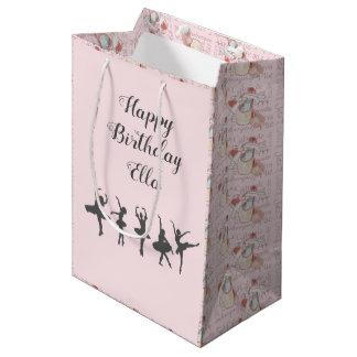 Ballerina-Geburtstags-personalisiertes Mittlere Geschenktüte