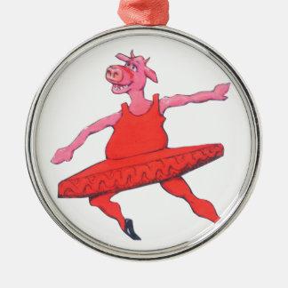Ballerina-Kuh Silbernes Ornament