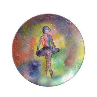 Ballerina-Kunst-dekorative Porzellan-Platte Teller