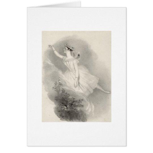 Ballerina Marie Taglioni Karte