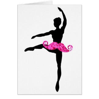 Ballerina-Schnurrbart Karte