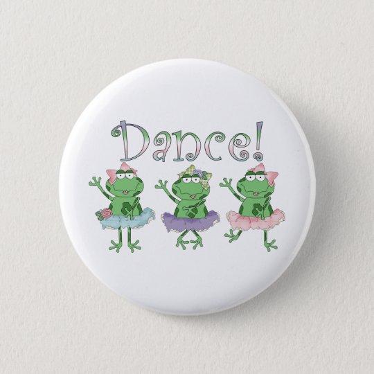 Ballerina-Tanz-Frösche Runder Button 5,7 Cm