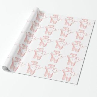 Ballett-Ballerina-Tanz Pointe beschuht rosa GW Geschenkpapier