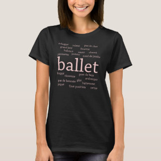 Ballett fasst dunklen T - Shirt ab