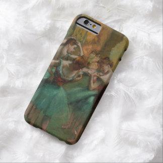 Ballett-Grafik-Tänzer rosa und grüner Edgar Degas Barely There iPhone 6 Hülle