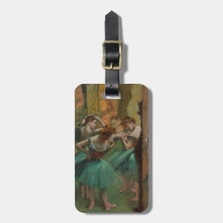 Ballett-Grafik-Tänzer rosa und grüner Edgar Degas Kofferanhänger