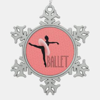 Ballett-Haltung Schneeflocken Zinn-Ornament
