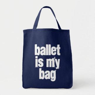 Ballett ist meine Taschen-Marine u. weiße Tragetasche