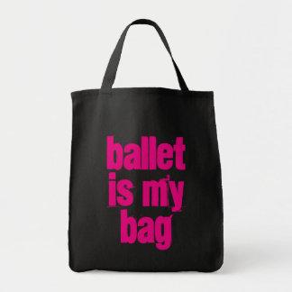 Ballett ist meine Taschen-schwarze u. rosa Tragetasche