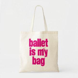 Ballett ist meine Taschen-weiße u. rosa Tragetasche