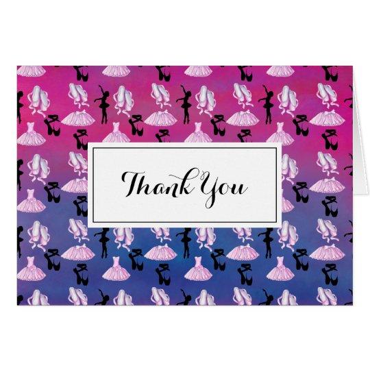 Ballett-Muster-Tanz-Anerkennung danken Ihnen Karte