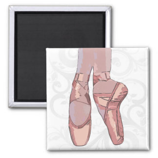 Ballett-Pantoffel-Zehe-Schuhe Quadratischer Magnet