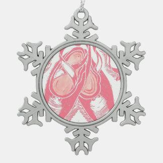 Ballett-Schuh-Verzierung Schneeflocken Zinn-Ornament